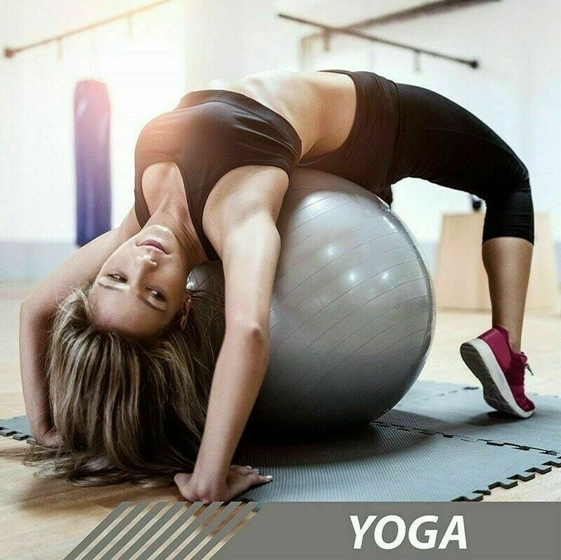 "26"" Exercise Yoga Ball For Sport Fitness Pilates Training St"