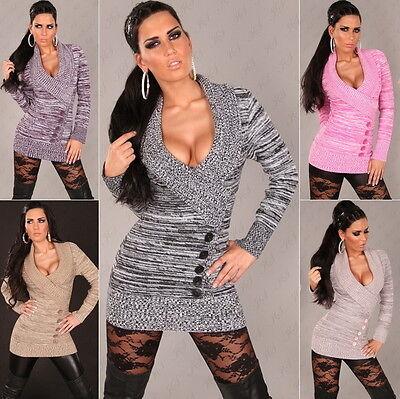 (Women's Shawl Neck Two Tone Pullover Sweater - S/M, M/L, L/XL)