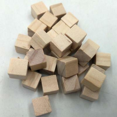 Wooden Cube (50pcs 10mm Natural Square Wooden Cube Bead Block Kids DIY Craft Toy)