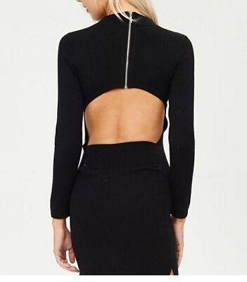 Women Junior Sweater mini tight dress sexy open back long sleeves Venti6 Colors