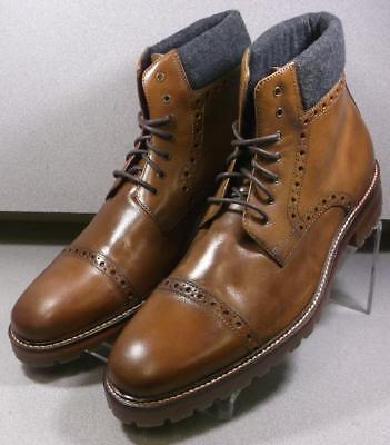 202932 MSBT50 Men's Shoes 10.5 M Tan Leather 1850 Series Boots Johnston Murphy