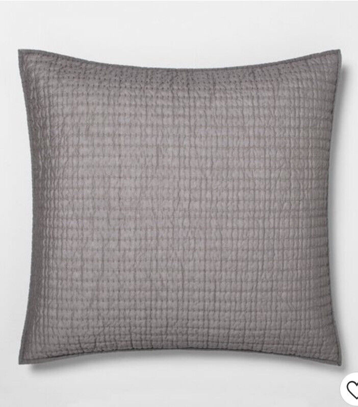 Solid Texture Stripe Pillow Sham - Hearth & Hand™ with Magnolia Euro Size