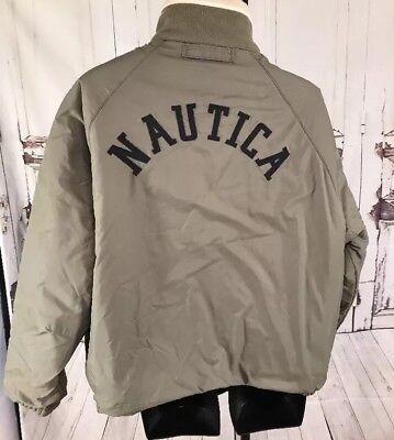 Vintage Nautica Reversible Color Block Sailing Spell Out Jacket NS83 XL Reversible Block