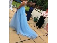 Pale blue princess evening dress size 8