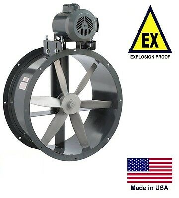 Tube Axial Duct Fan - Belt Drive - Explosion Proof - 15 - 115230v - 3900 Cfm