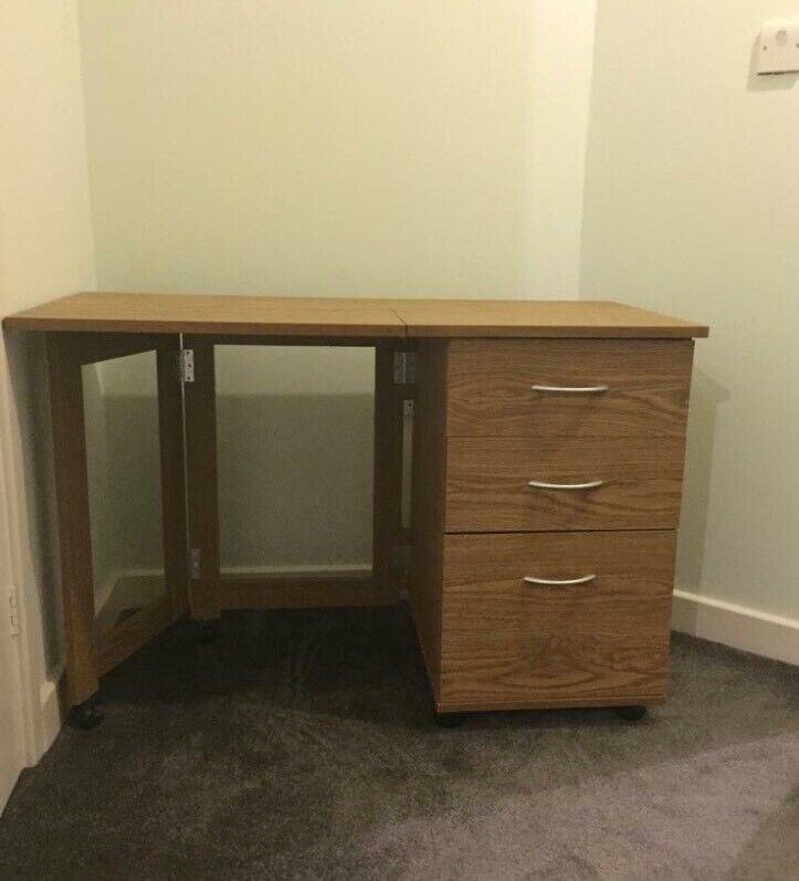 E Saving Folding Desk With Drawers In Coventry West Midlands Gumtree