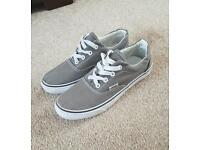 Vans grey trainers size 4.5
