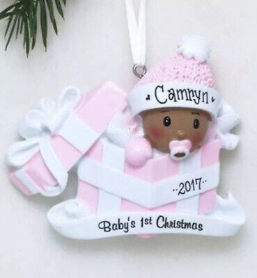 African American Baby's 1st Christmas Personalized Ornament 1st Christmas Personalized Ornament