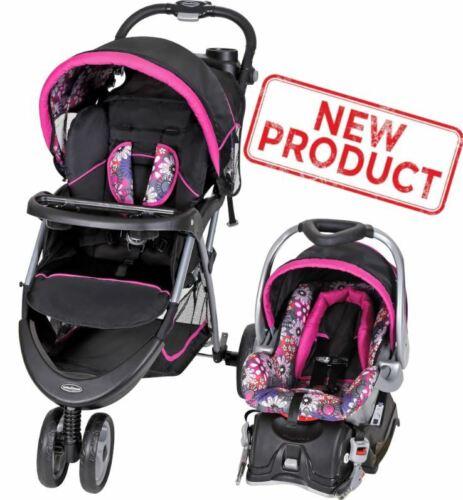 Baby Stroller + Car Seat Combo Girl Toddler Travel System Infant Safety Walking