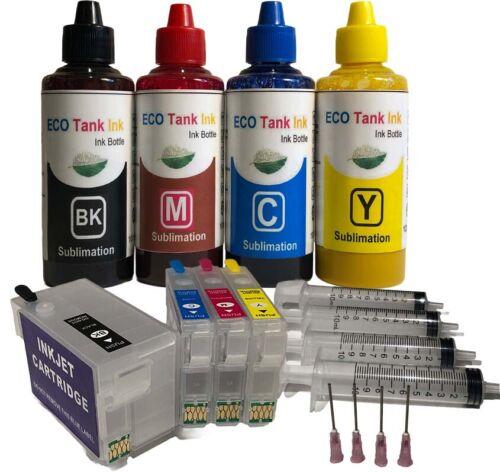 Sublimation Ink Kit 400ml for Workforce WF-7210 7220 WF-7110 WF-7720