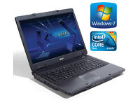 "Acer Laptop Big 15.4"" Screen - Windows 7 - Office - 4Gb - 250Gb - Wifi - DVD"