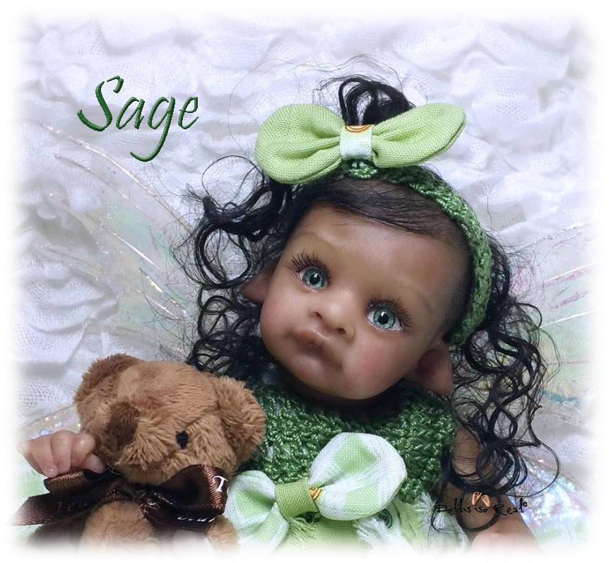 Reborn Doll Kit elf Sage by Yulia Shaver - Kit include all to make this doll.