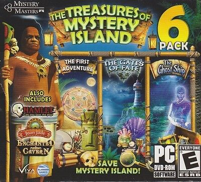 Computer Games - The Treasures Of Mystery Island 6 Pack PC Games Windows 10 8 7 XP Computer Games