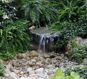 Custom pro diy pondless waterfall kit with 2000 gph pump for Garden pond and waterfall kits