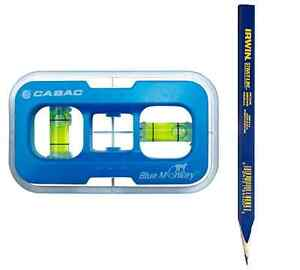 CABAC Blue Monkey Plug Point Level Stencil C-bracket Wall Plate Pencil Included