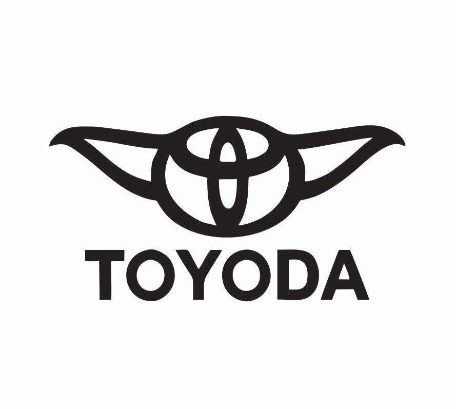 Toyota Toyoda Yoda Star Wars Vinyl Die Cut Car Decal Sticker