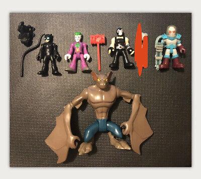 Imaginext DC Comics Villains Figures Man-Bat Bane Joker Mr. Freeze Cat Woman