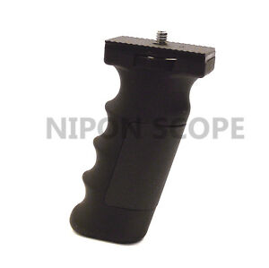 Hand grip pistol handle for cameras, compact scopes, monocular and camcorders