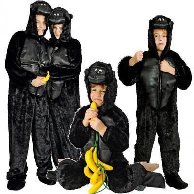 Affe Gorilla Kostüm Overall Kinder Damen Herren Affen Affenkostüm Gorillakostüm