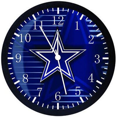 Dallas Cowboys Schwarzen Rahmen Wanduhr Schön für Geschenke oder Dekor Z16 ()