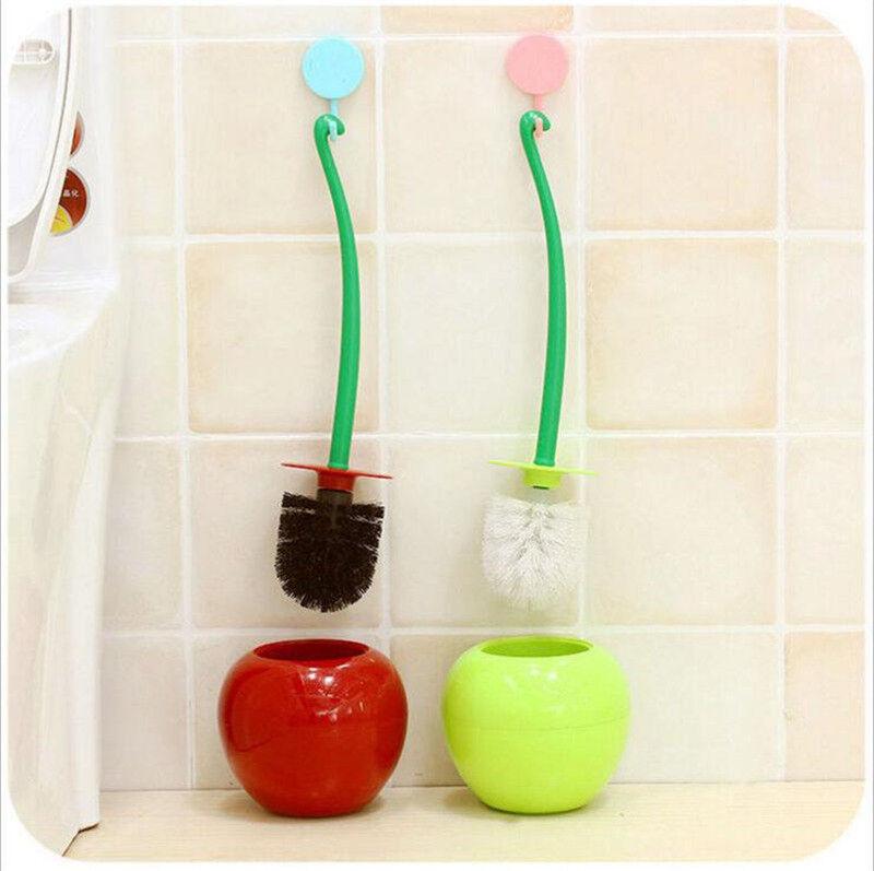 Cherry Toilet Brush Stand Holder Cute Shape Lavatory Bathroo