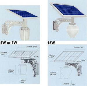 Solar panel LED lighting - 3 types