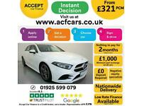 2019 WHITE MERCEDES A200 1.3 AMG LINE PETROL MANUAL CAR FINANCE FR £321 PCM