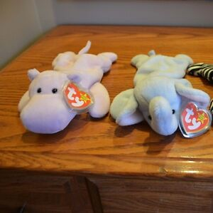 Ty Beanie Babies *Retired & Rare* - Set of 4 African Animals