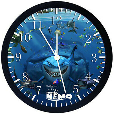 Disney Finding Nemo Black Frame Wall Clock Nice For Decor or Gifts Z98