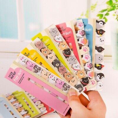 8pcslot Kawaii Cartoon Animals Cat Panda Memo Pad Sticky Notes Stationery Item