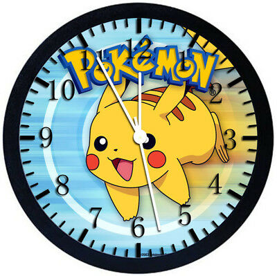 Pokemon Pikachu Black Frame Wall Clock Z44