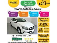 2016 WHITE MERCEDES A180D 1.5 SPORT EXECUTIVE DIESEL CAR FINANCE FR £241 PCM