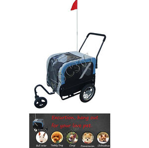 2in1 Bicycle Bike Dog Cat Pet Trailer Carrier Pet Stroller212067