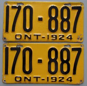 Classic Car YOM License Plates - Ministry Approval Guaranteed Kingston Kingston Area image 8