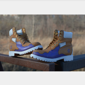 Dirty Sprite Timberlands! (Size 9.5)