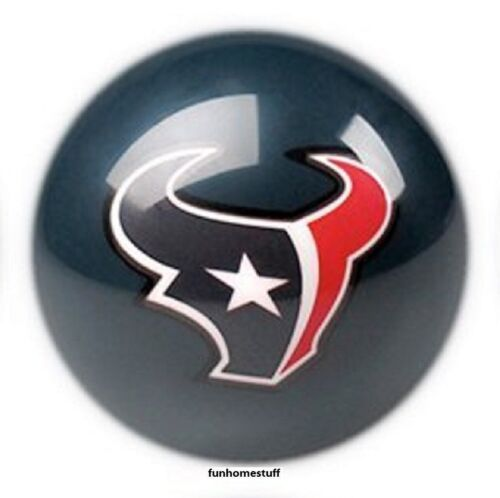 BLUE HOUSTON TEXANS NFL TEAM BILLIARD GAME POOL TABLE REPLACEMENT CUE 8 BALL