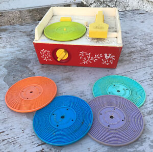 VINTAGE FISHER PRICE MUSIC RECORD PLAYERS