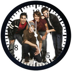 Big Time Rush Black Frame Wall Clock Nice For Decor or Gifts Y47