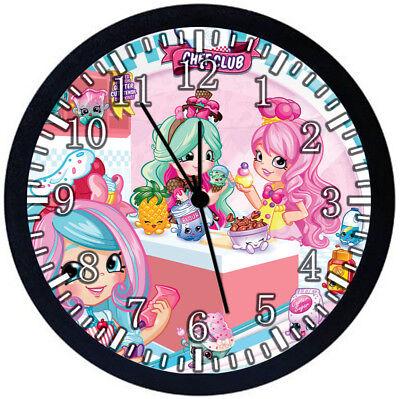 Настенные часы Shopkins Black Frame Wall