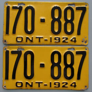 Vintage YOM License Plates For Your Classic - MTO Guaranteed! Cornwall Ontario image 6