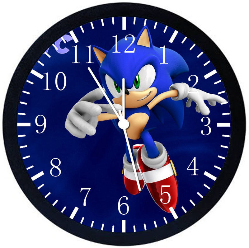 Super Sonic Black Frame Wall Clock Nice For Decor or Gifts Z168