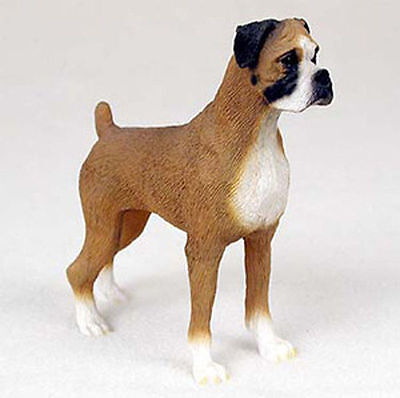 Boxer Hand Painted Dog Figurine Statue Uncropped