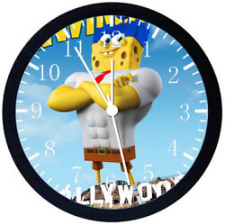 SpongeBob SquarePants Black Frame Wall Clock Nice For Decor or Gifts Z202