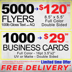 Business cards printing services in toronto gta kijiji classifieds business cards flyers postcards brochures print free delivery reheart Image collections