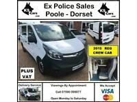 2015 Vauxhall Vivaro 1.6CDTi 115 6sp CREW CAB TWIN SLIDING DOORS CAMPER DAY VAN