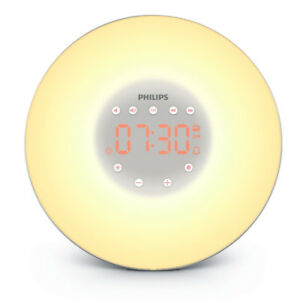 Philips HF3506/65 Wake-Up Light with Radio, Silver