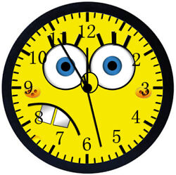 SpongeBob SquarePants Black Frame Wall Clock Nice For Decor or Gifts Z53