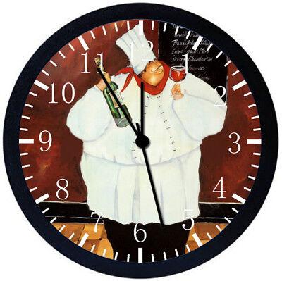 Настенные часы Fat Chef Black Frame