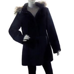 Nikki Jones 9542RO-82 Wool Cashmere, Beige Fur Collar Coat