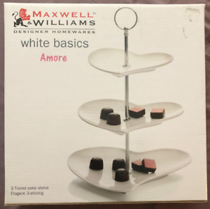 Maxwell Williams 3 Tier Heart Shaped Cake Stand (White)